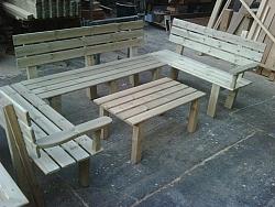 פינת ישיבה מיוחדת מעץ-2200 ש