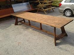 שולחן עץ ארוך 3.50 מטר-3950 ש