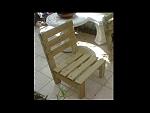 ספסל עץ נמוך לגינה/לבית-500ש'ח