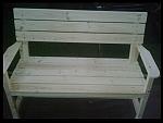 ספסל עץ כולל משענת יד-1450ש''ח