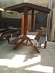 שולחן קק''ל כולל גגון ומשענות
