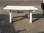 ספסל עץ  בצבע לבן, ללא משענת-800 ש''ח