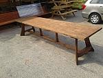 שולחן עץ ארוך 3.50 מטר-3950 ש''ח
