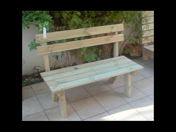 ספסל עץ - 1