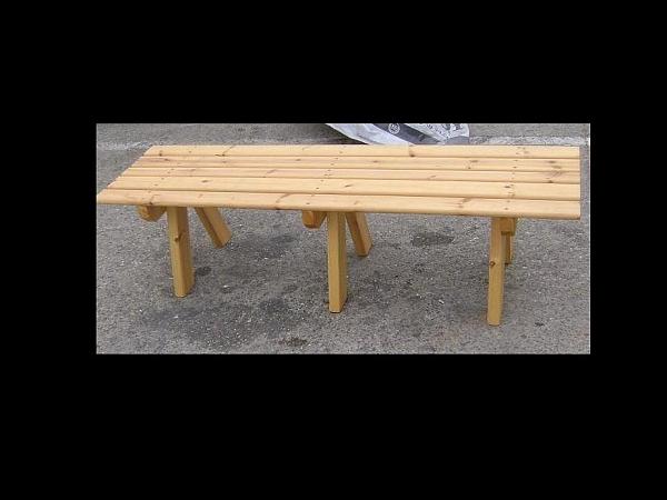 ספסלי עץ  ללא משענת במבצע - 1