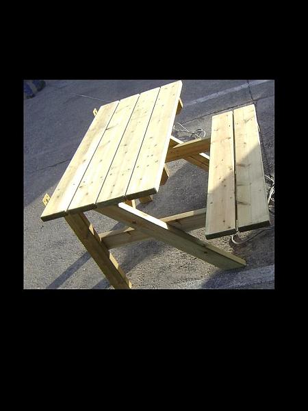 שולחן פיקניק צד ישיבה אחד - 1