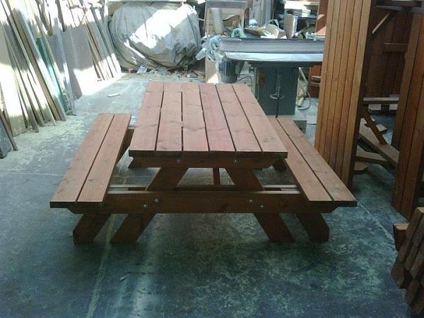 שולחן פיקניק ענק קונסטרוקציה כפולה - 1