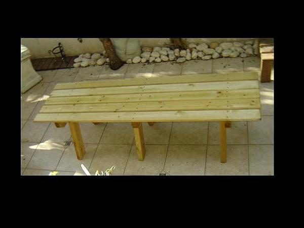 ספסלי עץ  ללא משענת במבצע - 2