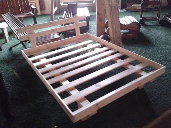 מיטה זוגית מעץ+מסגרת-ראש מיטה במבצע!!! - 3