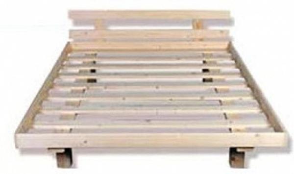מיטה זוגית מעץ+מסגרת-ראש מיטה במבצע!!! - 4