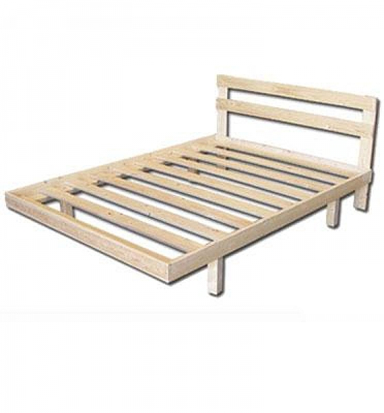מיטת יחיד מעץ-600 ש