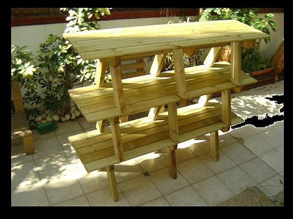ספסלי עץ  ללא משענת במבצע - 4