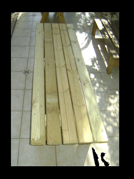 ספסלי עץ  ללא משענת במבצע - 5