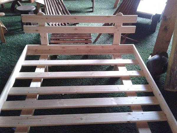 מיטה זוגית מעץ+מסגרת-ראש מיטה במבצע!!! - 6
