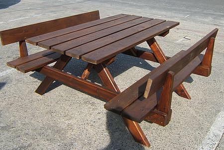 שולחן עץ צביעה כפולה - 2