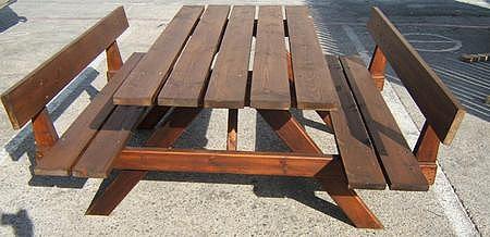 שולחן עץ צביעה כפולה - 4