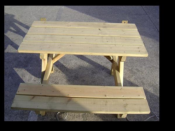 שולחן פיקניק צד ישיבה אחד - 2