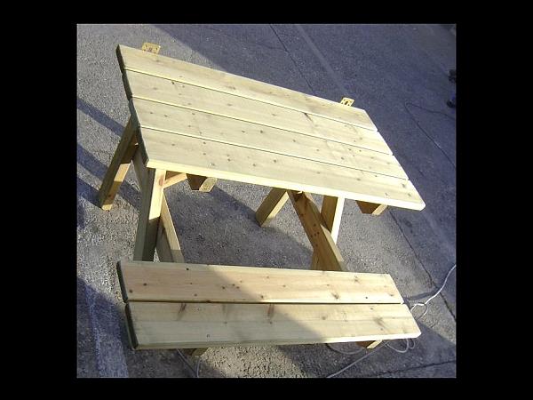שולחן פיקניק צד ישיבה אחד - 3