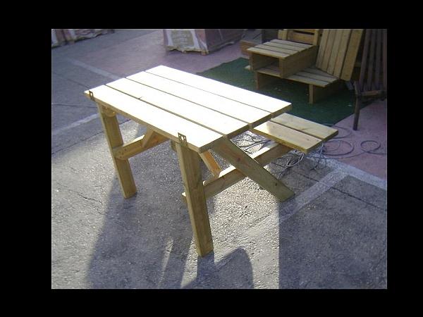 שולחן פיקניק צד ישיבה אחד - 4