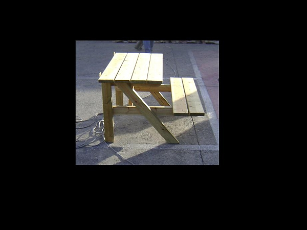 שולחן פיקניק צד ישיבה אחד - 5