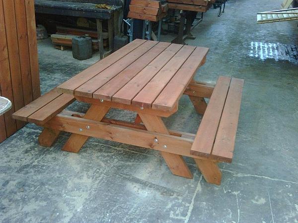שולחן פיקניק ענק קונסטרוקציה כפולה - 4