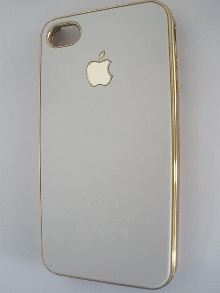 כיסוי דמוי אייפון זהב - 1