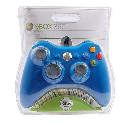 שלט חוטי ל- Xbox 360 כחול - 2