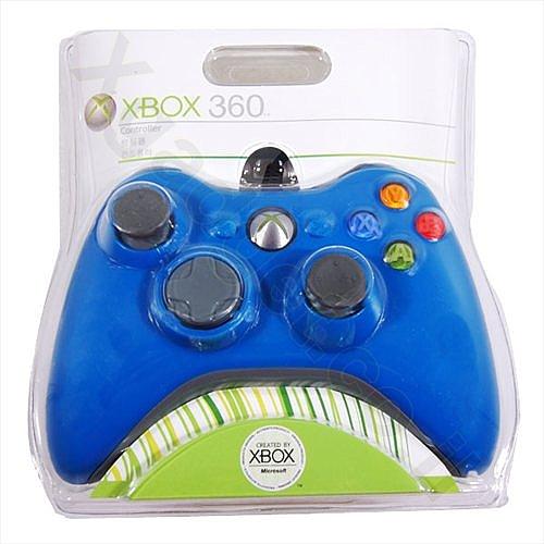 שלט חוטי ל- Xbox 360 כחול - 1