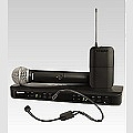 SHURE BLX1288E/P31  מערכת BLX כפולה עם מיקרופון יד PG58 ומיקרופון ראש PGA31 קבולי