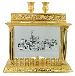 חנוכיה קישוטית זהב