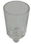 כוסית זכוכית עם רגל , כוסית זכוכית לנרות שבת , כוסית זכוכית לנרות , כוסית זכוכית לשמן ,