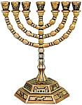המנורה , מנורה , מנורה 7 קנים , מנורה קטנה , מנורה מתנה , מתנות יהודיות , Menorah , מזכרת מנורה ,