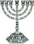 המנורה , מנורה , מנורה 7 קנים , מנורה קטנה , מנורה מתנה , מתנות יהודיות , מזכרת מנורה ,