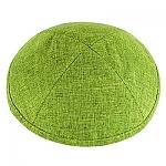 כיפה פשתן ירוק זית