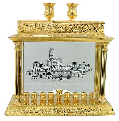 חנוכיה קישוטית זהב - 1