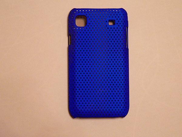 מגן חיצוני לגלקסי i9000 צבע כחול (פלסטיק) - 1