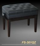 כיסא לפסנתר שחור עם אחסון לתווים ויקטוריו VICTORIO FS-301QZ