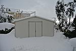 מחסן גינה אגוז בשלג