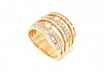 טבעת גולדפילד שורות משובצת אבני זוורובסקי