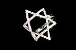טבעת מגן דוד מכסף משובצת זרקונים