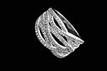 טבעת כסף חבלים משובצת אבני זוורובסקי