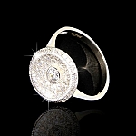 טבעת מקומרת כסף 925