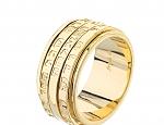 טבעת גולדפילד 18 קראט שמירה לגבר