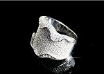 טבעת כסף 925 משובצת אבני סוורובסקי קיפול