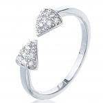 טבעת חצים כסף 925 משובצת אבני סוורובסקי