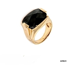 טבעת לגבר/אישה עם אבן אוניקס שחורה