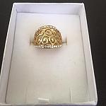 טבעת חריטה משובצת