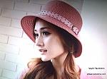 כובע מגבעת לנשים טרנדי משלוחינם דגם אביב 2013 עם חגורה עוטפת ואבזם לאשה