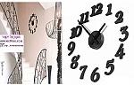שעון מדבקת קיר מוצר להיט עכשיו בדיל !  דגם: ונצואלה. מזיזים את השעון??  השעון לסלון