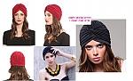 טורבן כובע טורבאן לאשה הלהיט 4  צבעים אדום שחור לבן ורוד לבחירה